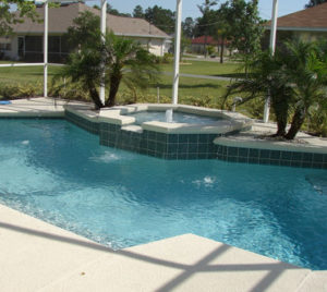 Pool deck travertine Oakland Florida